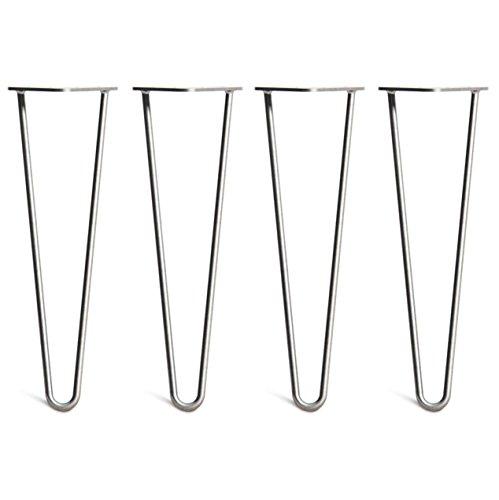 4x Haarnadel Tischbeine Austauschbare Tisch&Schrank Beine für Heimwerker - Mitte des Jahrhunderts Modern Stil - Verfügbar in Höhe von 10cm-86cm - Freie Bodenschoner und Schrauben (Freies Projekt Tv)