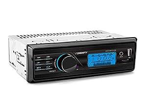 vordon HT 165s Autoradio avec entrée auxiliaire/USB/Carte SD Noir