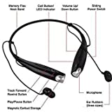 Giggle HBS-730 Neckband Bluetooth Headphones Wireless Sport Stereo Headsets Handsfree with Microphone for Android, Apple Devices