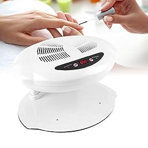 400W Secador de Uñas de Aire Frío y Caliente Profesional con Sensor para Curado de Uñas y Uñas de los Pies (Blanco)