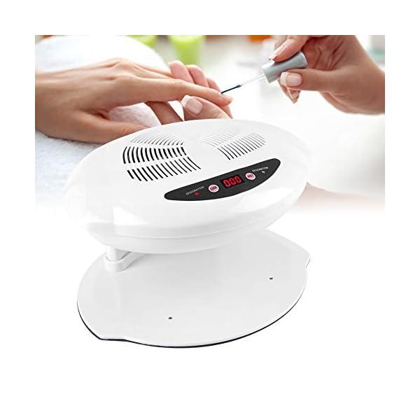 400W Secador de Uñas de Aire Frío y Caliente Profesional con Sensor para Curado de Uñas y Uñas de los Pies(Blanco)