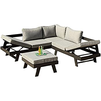 Amazon De Greemotion 128510 Lounge Set Aluminium Panama Alu