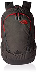 The North Face Vault Backpack, Asphalt Grey Heather/Cardinal Red, One Size