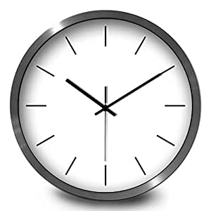 12 Inch Minimalist Wall Clock Mute Pure Color Living Room Bedroom Student Class Classrooms 12