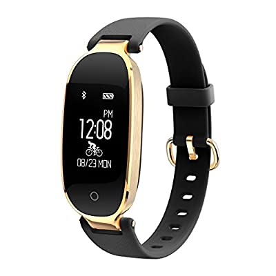 Fitness Tracker for Women Heart Rate Monitors Step Counter Activity Trackers Smart Bracelet Smartwatches IP67 WaterproofBluetooth Pedometer Wristband with Sleep Monitor for Android & IOS Smartphone, iPhone, Samsung by WOWGO by Coolife