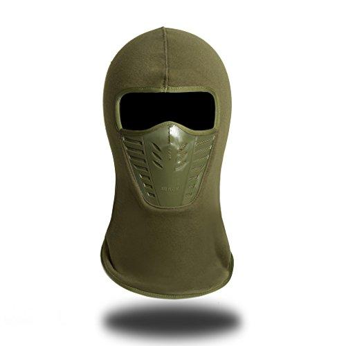 Winddichte Vollgesichtsmaske aus Fleece,Einheitsgröße,Unisex,Winterliche Outdooraktivitäten - Armeegrün