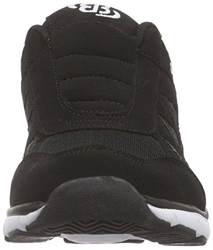 Bruetting Spiridon Fit Slip In, Chaussures de Course Garçon Noir - Noir (noir/blanc)