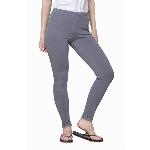 Pi World Ultra Soft Cotton Regular Women\'s Legging (Piworld_159_Grey_X-Large)