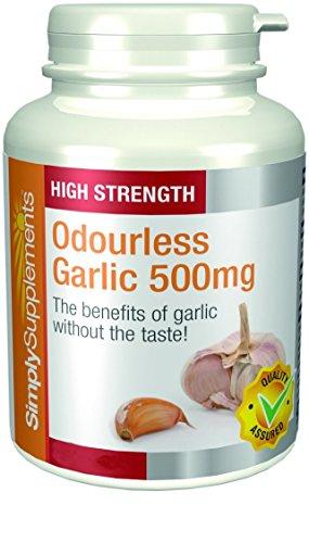 Foto de Ajo 500mg - 360 cápsulas - Hasta 1 año de suministro - Para la salud del corazón y la circulación - SimplySupplements