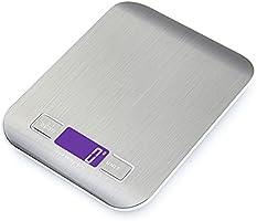 GPISEN Bilancia da Cucina Smart Digitale con Funzione Tare,5kg/11 lbs Professionale Acciaio Inox Alta Precision Bilancia...