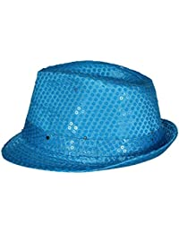 268d978e40d Anglewolf Led Flashing Trilby Hats Hip-Hop Dance Cap for Stage Show Jazz Hat  Bright