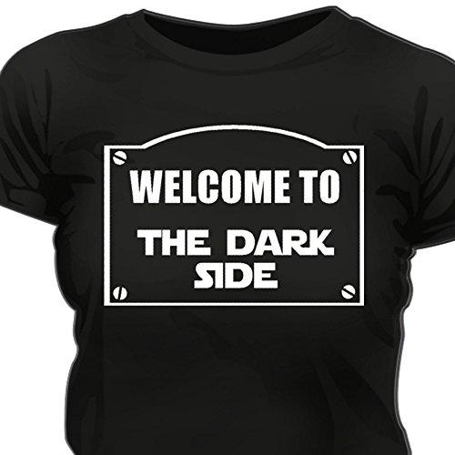 Creepyshirt - WELCOME TO THE DARK SIDE - STAR WARS SW INSPIRED WOMAN T-SHIRT - XXL