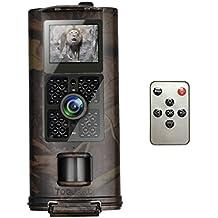 Wildkamera 1080P, TOGUARD 12MP Full HD Jagdkamera 120°Breite Vision Infrarote 20m Nachtsicht Wasserdichte IP56 Überwachungskamera mit Fernbedienung