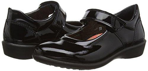 Ricosta  Beth M Patent 62, Babies pour fille Noir - Black (Schwarz Lackblack)