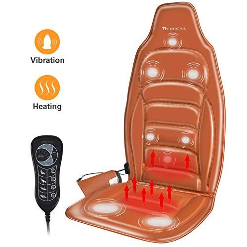 Triducna – Siège Massant Coussin de Massage Masseur Dos avec Chauffage et Vibration