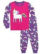 Ti aspettano dei sogni magici grazie a questo colorato PJs! Questo vivace pigiama disegnato da Harry Bear è caratterizzato da una stampa di unicorni, arcobaleni e stelle. Realizzato in cotone elasticizzato, questo completo da notte di qualità...