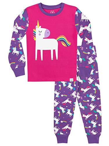 Harry Bear Mädchen Einhorn Schlafanzug Slim Fit Mehrfarbig 110