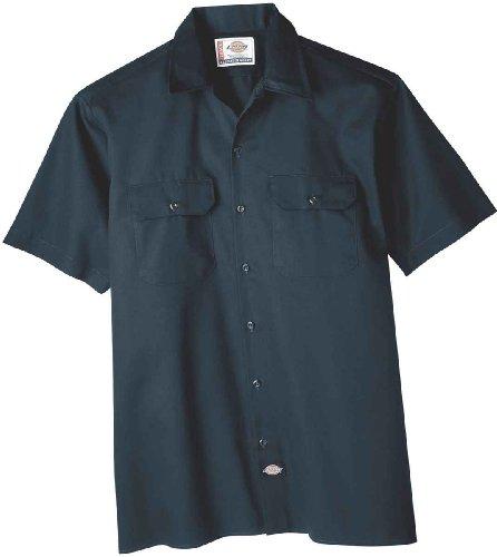"Dickies ""1574 Short Sleeve Work Shirt"" Pacific Blue Navy"
