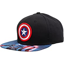 Captain america Men's Cap (SB45ZAMVUA_Black_Free Size)