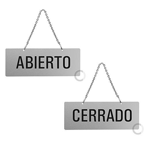 Placa Aluminio | Cartel Colgar Abierto - Cerrado |