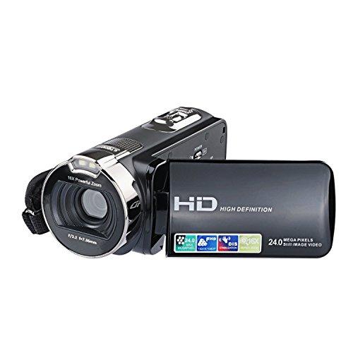 PowerLead Videocámara, Cámara de Video Digital, Cámara Digital de 24 MP, Cámara Con Zoom 16X, Pantalla LCD de 2.7 Pulgadas, Rotación de 270°