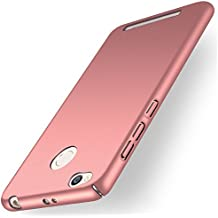Funda Xiaomi Redmi 3S, Caso con [Protector de Pantalla de Cristal Templado] [Ultra-Delgado] [Ligera] Anti-Rasguño y Anti-Huellas Dactilares Totalmente Protectora Estuche de Plástico Duro -Oro