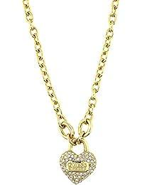 Guess Damen-Kette mit Anhänger Messing teilvergoldet Zirkonia gold - UBN21581