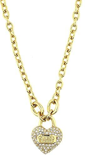 Guess Damen-Kette mit Anhänger Messing teilvergoldet Zirkonia gold 50 cm - UBN21581 (Guess Halskette Damen Gold)