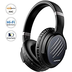 Mpow H16 Casque Bluetooth Reduction de Bruit Active, sur l'oreille 2 Heures de Charge Rapide Casque Audio, 30 Heures Temps de Musique, Deep Bass avec CVC 6.0 Mic pour TV/PC/Téléphone