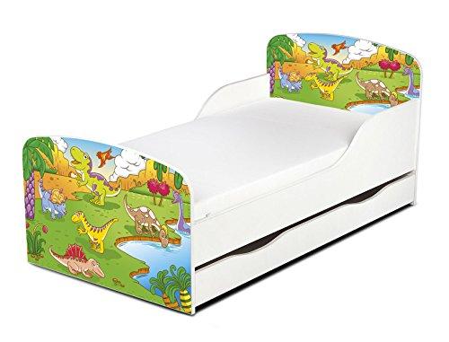 Letto per bambini in legno con cassetto