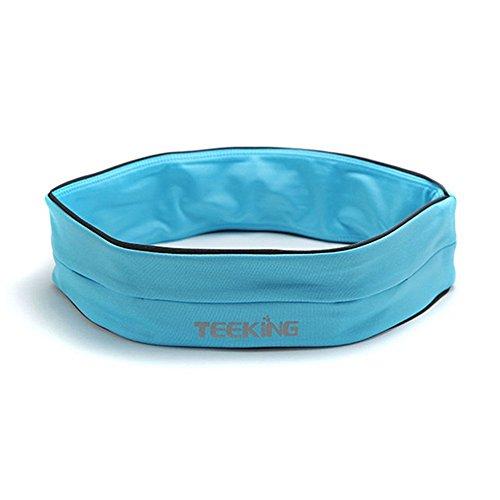 Minetom Cintura per la Corsa e il Jogging - Cintura Porta Oggetti - Ideale per l'Esercizio Fisico, il Fitness, l'Allenamento, lo Sport, Marsupio elastico, accessorio da sport ideale per contenere picc Blu