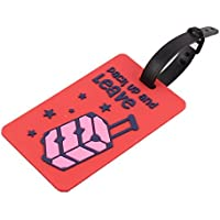 DealMux goma Candado forma de rectángulo nombre bolsa Identificación del equipaje Etiqueta roja