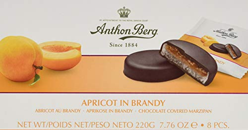 """Anthon Berg Frucht in Marzipan\""""Apricot in Brandy\"""", 6er Pack (6 x 220 g)"""