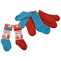 Twin Pack/Two Pairs Kids Wellington Boot Socks Calf Length (Red)