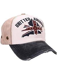 Unisex Baumwolle Baseball Cap UK Flag Jeans Sport Mütze Baseballkappe Snap back Truck