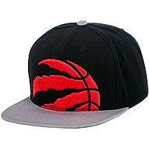 Mitchell & Ness – Gorra de la NBA pirata XL Logo ajustable Gorra Sombrero, Toronto