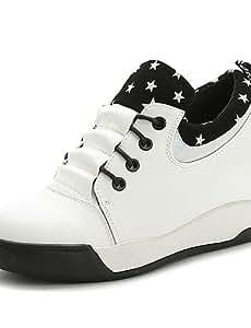 Women's Shoes Flat Heel Round Toe Fashion Sneakers Casual Black/White , white-us8 / eu39 / uk6 / cn39 , white-us8 / eu39 / uk6 / cn39