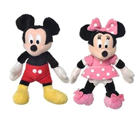 Disney Micky Maus Wunderhaus 5 Zoll (13cm) Mickey & Minnie weiches Plüsch-Spielzeug