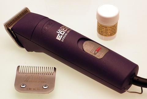Andis AGC Super 2 speed Dog Grooming Clipper in purple with size 10 & 7FC blades and FREE grease