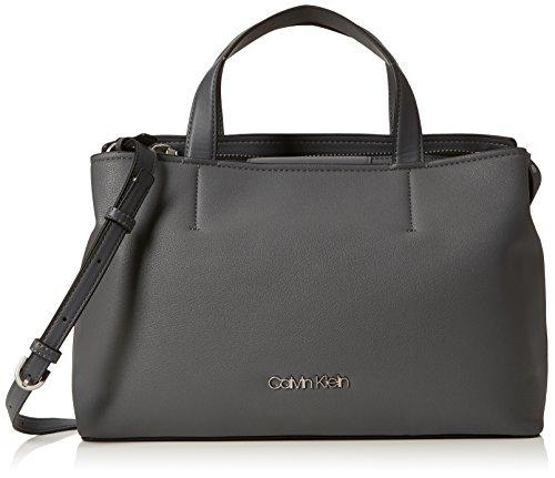 Calvin Klein Jeans Damen Drive Tote Schultertasche, Grau (Steel Greystone), 13x25x40 cm -