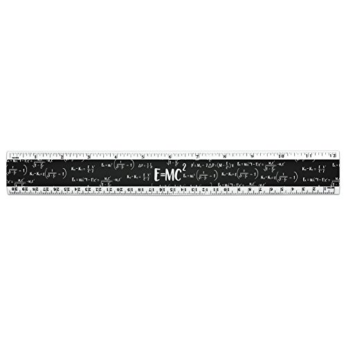 E = mc 2Energie Mass Gleichung Albert Einstein Theorie der speziellen Relativitätstheorie Mathematische 30,5cm Standard und metrisches Kunststoff Lineal