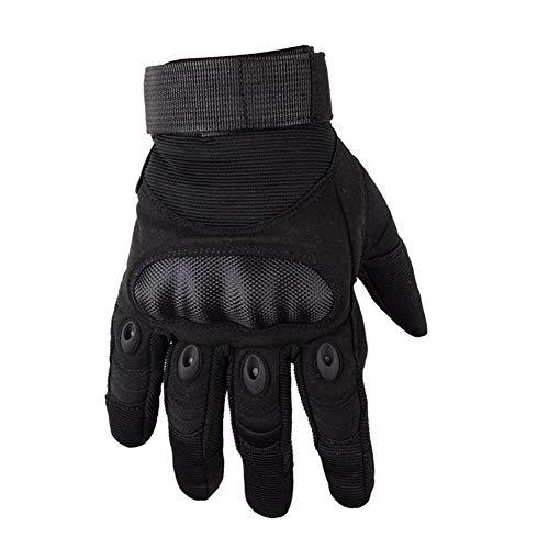 MAXTK Im Freien Taktische Handschuhe Der Speziellen Kräfte Harte Oberteilhandschuhe, Die Taktische Militärenthusiasten Schützende Anti-Ausschnittvolle Fingereignungshandschuhe Reiten,Black,XL