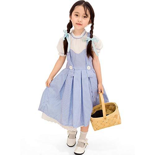 Cute Kostüm Kinder Fairy - Story of life Große Größe Halloween Kostüm Kinder Mädchen Cosplay Cute Maid Bühnenkostüm Europäischen Und Amerikanischen Fairy Dress,Blue,S(110/120cm)