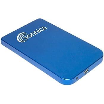 Sonnics Disque dur 320Go 6,3cm disque dur USB externe de poche–Bleu