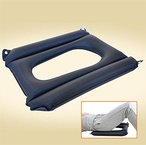 meylee Anti-Wundliegen Patienten Luftkissen mit Loch - Geeignet für Rollstuhl & WC Stuhl & Bed Care - Schwarz, 45 × 37 × 33 cm