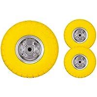 Set de dos neumáticos Bond Hardware de 25,4 cm para carros de carga y carretillas, amarillo