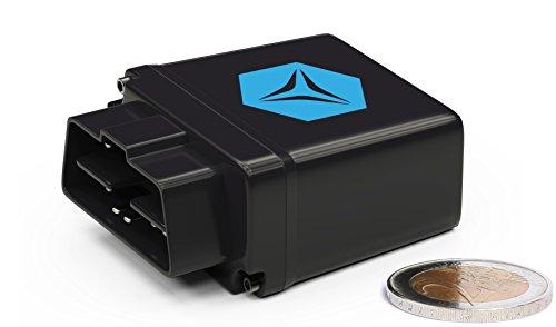 FLEETIZE Elektronisches Fahrtenbuch, Finanzamtkonform, OBD2 GPS Tracker inkl. 6 Monate Software-Lizenz, mit EU SIM Karte, Fahrtenschreiber, automatisch, flottenfähig, kabellos