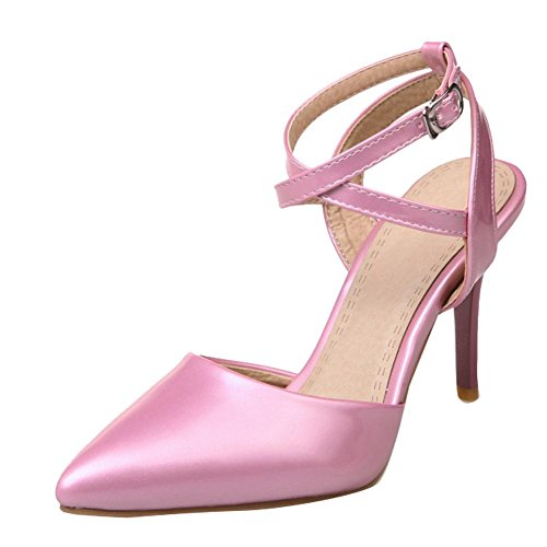 Mee Shoes Damen high heels ankle strap Slingback Pumps Pink