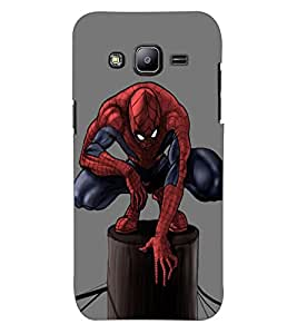 ColourCraft Superhero Design Back Case Cover for SAMSUNG GALAXY J2 J200G