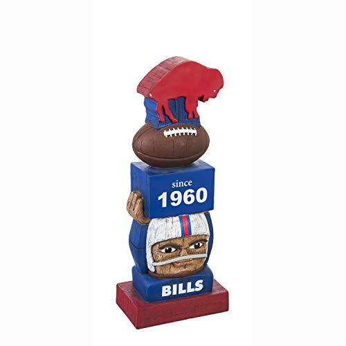 Team Sports America Buffalo Bills Vintage NFL Tiki Totem Statue